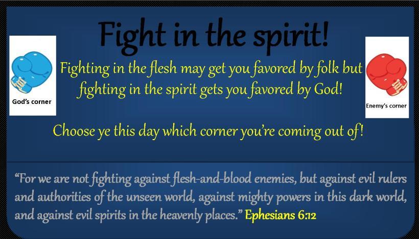 Spiritual Fight